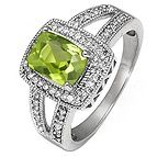 I have been looking for my birthstone in a setting that I actually like for so long!! This one is cute!  1/5 Ct. tw Diamond Peridot Ring Sterling Silver