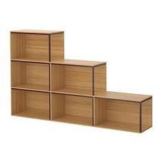 IKEA - IKEA PS 2014, Storage combination with top, bamboo/dark red,