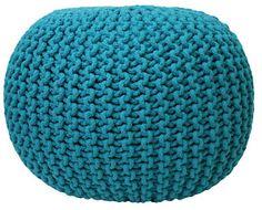big, crochet Pouffe seat.  like a cute, DIY, swiss ball.