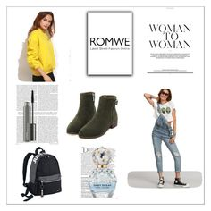 """Romwe 84"" by zerina913 ❤ liked on Polyvore featuring NIKE, Balmain, Marc Jacobs, MAC Cosmetics and romwe"