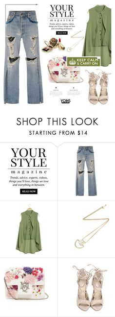 """""""Time to go! - Yoins12"""" by mell-m ❤ liked on Polyvore featuring Pussycat, Jonathan Simkhai, Alexander McQueen, Dolce&Gabbana, yoins, yoinscollection, loveyoins and polyvorefashio"""