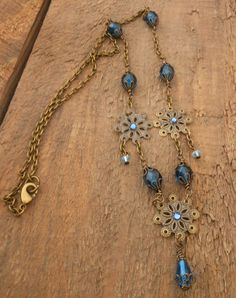 Floral Brass Filigree Neo-Victorian by BackAlleyDesignsINK on Etsy