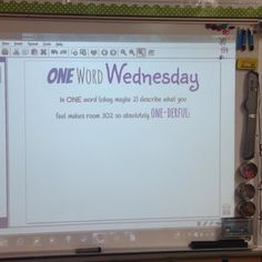 One Word Wednesday-white board messages Morning Activities, Writing Activities, Classroom Activities, Classroom Organization, Classroom Whiteboard, Teaching Themes, Listening Activities, Interactive Whiteboard, Classroom Ideas
