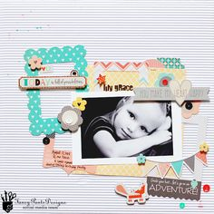 Lily Grace *Fancy Pants True Friend - Scrapbook.com - Made with the Fancy Pants True Friend collection.