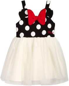 Image 1 of Disney's® Minnie Mouse Casual Dress, Baby Girls Dresses Kids Girl, Cute Dresses, Flower Girl Dresses, Disney Outfits, Kids Outfits, Disney Clothes, Minnie Mouse Birthday Outfit, Kids Clothes Boys, Kids Clothing