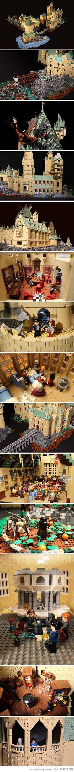 Hogwarts made entirely out of Lego! The level of detail is incredible!