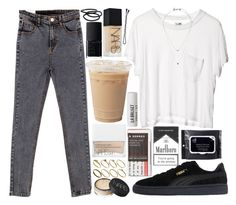 """""""waiting for it"""" by velvet-ears ❤ liked on Polyvore featuring Cheap Monday, Puma, Korres, Topshop, NARS Cosmetics, L:A Bruket, ASOS, BOBBY and Goody"""