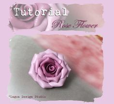 polymer clay | ... How to make graduated color polymer clay Rose Flower Focal Beads