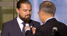 Leonardo DiCaprio y Ban Ki Moon