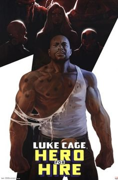 Luke Cage poster: Hero For Hire (Marvel Comics superhero) Luke Cage Marvel, Heroic Age, Hero Poster, Heroes For Hire, Marvel Comic Character, Comic Covers, Poster Prints, Posters, Marvel Comics