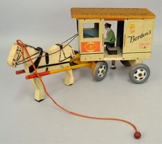 Vintage Rich Toys Borden's Horse Drawn Wagon