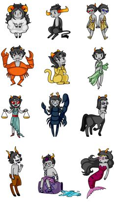mischievous little zodiac Love bein' a Gemini... Double Sollux!! karkat is sooo cute!