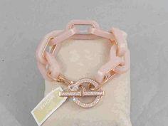 Michael Kors Rose Gold Blush Acetate VALENTINE'S DAY Toggle Bracelet MKJ5109 #MichaelKors #Statement