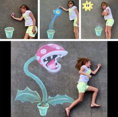 22 Totally Awesome Sidewalk Chalk Ideas | Sidewalk chalk, Sidewalk ...