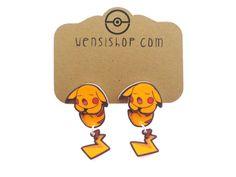 Pikachu Sleeping (Pokemon Inspired) Cling Earrings
