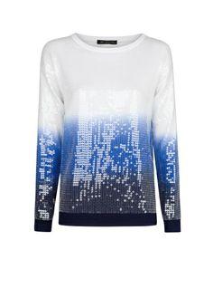 MANGO - Ombré sequined sweater