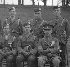 Officers of the Cameronians on 28 August 1927.
