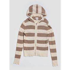 Pre-owned Ann Taylor LOFT Zip Up Hoodie ($14) ❤ liked on Polyvore featuring tops, hoodies, beige, hooded zip up sweatshirt, pink hooded sweatshirt, hoodie top, pink zip up hoodies and hooded pullover