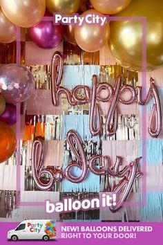 Diy Birthday Backdrop, Birthday Party Decorations Diy, Birthday Party For Teens, 14th Birthday, Birthday Ideas, Happy Birthday Greetings Friends, Birthday Balloons, Gold Confetti, Confetti Balloons