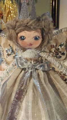 This item is unavailable Christmas Tree Fairy, Fairy Gifts, Princess Zelda, Disney Princess, Fairies, Gifts For Her, My Etsy Shop, Dolls, Flower