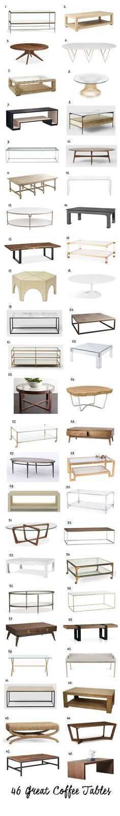 Elements of Style Blog | 46 Great Coffee Tables | http://www.elementsofstyleblog.com