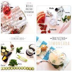 Perfect for summer healthy, fruit soft drinks.....recipes on blog www.foodlogic.pl
