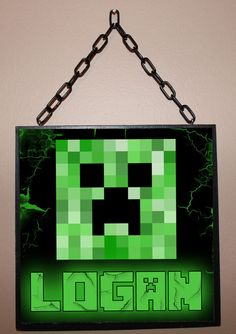 Hey, I found this really awesome Etsy listing at https://www.etsy.com/listing/197544767/custom-name-sign-minecraft-inspired