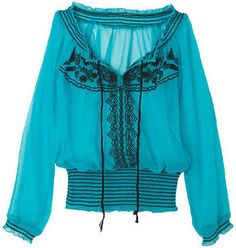 ShopStyle: Embroidered Autumn Top