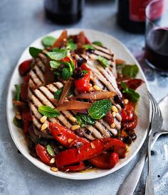 Tuna with agrodolce salsa