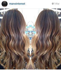 Brond hair color balayage