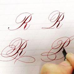 ✍️大寫R的變化練習! #typography #ink #pen #penmanship #handwriting #handlettering #lettering #nib #design #type #finetec #英文書法 #西洋書法 #花體字 #instagood #copperplate #calligraphy #calligraphymasters