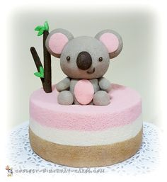 Pretty Chiffon Koala Bear Cake... Coolest Birthday Cake Ideas