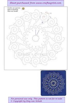 Diwali light on Craftsuprint designed by Emy van Schaik - Stitching with beads - Now available for download!