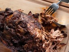 """Slow Cooker Shredded Pork and 25 more favorite recipes from """"cooking channel"""" Paleo Pulled Pork, Pulled Pork Recipe Slow Cooker, Slow Cooker Recipes, Paleo Recipes, Cooking Recipes, Dinner Recipes, Cooking Ideas, Crockpot Ideas, Smoker Recipes"""