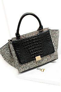 #handbag black and grey handbag from Dior