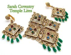 Sarah Coventry  Dangle Brooch Earrings Set by ALLUWANTISHERETODAY, $70.00 - Love the dangles on earrings. Also this seller/shop is an awesome price reference for Sarah Coventry items.