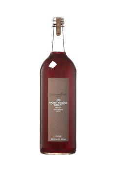 Le jus de raisin rouge Merlot. L'enchanteur.