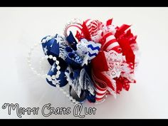 Patriotic flag loopy bow tutorial (hairbow tutorial) Day 2