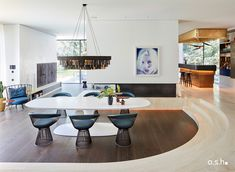 Interior Design project by studio a.s.h. Dining Area, Dining Table, Villa Design, Modern Classic, Living Spaces, Interior Design, Studio, House, Furniture