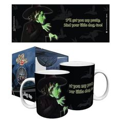 """Wizard of Oz Witch Get You Pretty 11 oz. Mug: """"I'll get you my pretty. And your little dog too!"""" That's what she said in the movie, and that's what it says on this Wizard of Oz Witch Get You Pretty 11 Wizard Of Oz Witch, Wicked Witch, Sharpie Designs, Surrender Dorothy, Little Dogs, Mug Cup, Vintage Home Decor, That Way, You And I"""