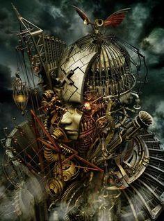 As surreais e sombrias ilustrações em 3D misturando o gótico e o steampunk de Kazuhiko Nakamura