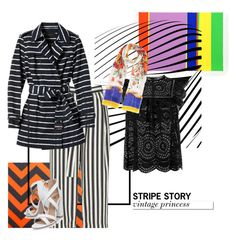 """""""stripe story #1"""" by ina-misshijab on Polyvore featuring River Island, Zimmermann, Banana Republic, White Label, Miss KG and Dolce&Gabbana"""
