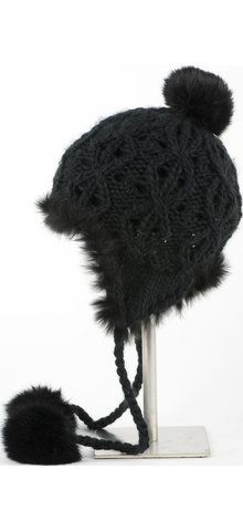 Furry hat perfect for keeping you warm on the slopes!