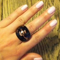 Ring Black and gold glass ring. Jewelry Rings