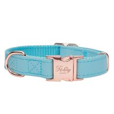 Capri in Rose Gold Designer Dog Collars, Pet Tags, Turquoise Color, Dog Harness, Gold Hardware, Fur Babies, Two By Two, Capri, Rose Gold