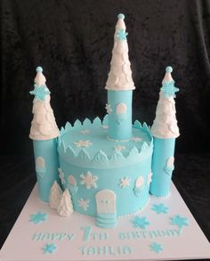 Frozen theme castle cake by SWEET CREATIONS/Special Cakes for all Occasions, Buderim, Queensland, Australia. You'll find this Cake Appreciation Society Member in our Directory at www.cakeappreciationsociety.com
