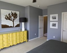 Bedroom Gray And Yellow Design, Pictures, Remodel, Decor and Ideas - page 3