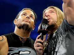 Jeff Hardy and Triple H.