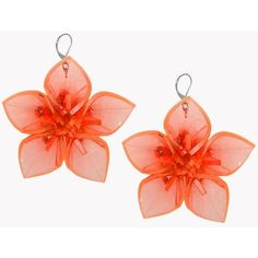 DSQUARED2 Techno Flowers Earrings ($533) ❤ liked on Polyvore featuring jewelry, earrings, accessories, orange, orange earrings, flower jewellery, flower earrings, earrings jewelry and flower jewelry