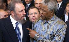 Nelson Mandela con Fidel Castro